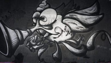 Photo of Η Πολυτεχνειούπολη μέσα από το ζωγραφισμένο με graffiti σκυρόδερμα (φωτογραφικό υλικό)